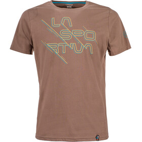 La Sportiva Sliced Logo T-Shirt Men Falcon Brown
